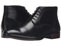 Steve Madden Webbar Black Leather Men's Lace Up Boots
