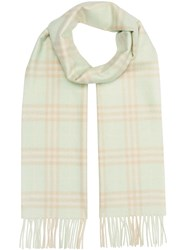 Burberry The Classic Vintage Check Cashmere Scarf Green