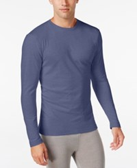 Alfani Men's Long Sleeve Undershirt Only At Macy's Blueberry Heather