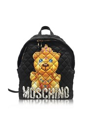 Moschino Teddy Bear Black Nylon Backpack