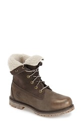 Women's Timberland Waterproof Foldover Bootie Grey