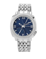 Vince Camuto Stainless Steel Bracelet Watch With Navy Dial Silver