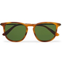 Bottega Veneta Square Frame Tortoiseshell Matte Acetate And Gunmetal Tone Sunglasses