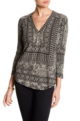 Lucky Brand Placed Print Blouse Multi