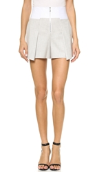 Robert Rodriguez Bonded Tuxedo Shorts Heather Grey