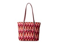 Vera Bradley Small Trimmed Bohemian Chevron Tote Handbags Multi