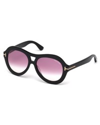 Tom Ford Isla Chunky Aviator Sunglasses Black