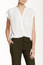 Pleione Short Sleeve Kim Blouse White