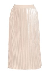 Great Plains Silver Plisse Pleated Skirt Pink