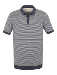 Racing Green Cooper Knitted Short Sleeve Polo Blue