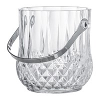 Bloomingville Art Deco Textured Glass Ice Bucket With Handle