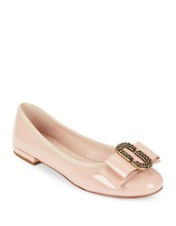 Marc Jacobs Interlock Patent Leather Ballet Flats Nude