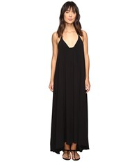 Vince Camuto Fiji Solids Racerback Maxi Dress Cover Up Black Women's Swimwear