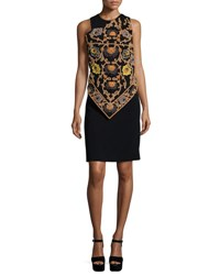Etro Embroidered Handkerchief Dress W Beading Black