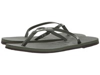 Havaianas You Metallic Flip Flops Green Olive Women's Sandals