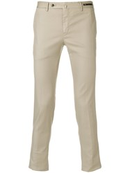 Pt01 Side Fastened Trousers Nude And Neutrals