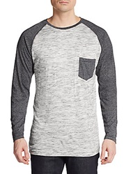 Sovereign Code Slub Cotton Raglan Tee Grey