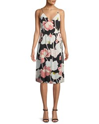Cupcakes And Cashmere Chayene Floral Print Sleeveless Wrap Dress Multi
