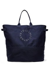 Stella Mccartney Printed Cotton Canvas Tote Navy