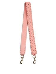 Valentino Rockstud Spike Quilted Leather Bag Strap Pink