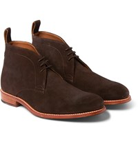 Grenson Marcus Suede Desert Boots Chocolate
