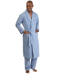 Nautica Plaid Robe Light French Blue