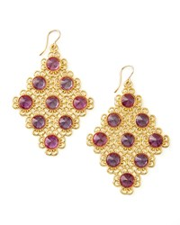 Pink Alexandrite Diamond Shaped Chandelier Earrings Devon Leigh
