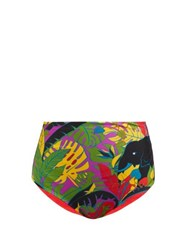 La Doublej Surf Elephant Print Briefs Black Multi