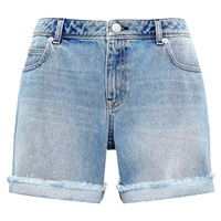Whistles Frayed Boyfriend Shorts Dark Denim