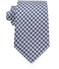 Austin Reed 8Cm Navy And White Dogtooth Silk Tie