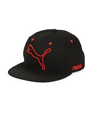 Puma Boundary Flat Bill Ball Hat Black Red