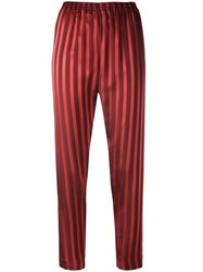 Forte Forte Sttriped Trousers Red