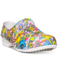 Easy Street Shoes Works By Kris Slip Resistant Clogs Women's Bright Multi Floral