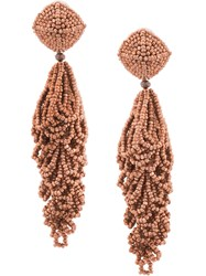 Sachin Babi And Beaded Chandelier Earrings Pink And Purple