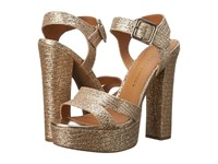 Chinese Laundry Allspice Champagne Glitter High Heels Gold