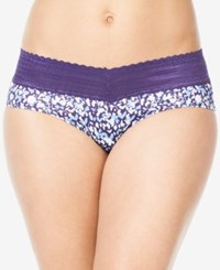 Warner's No Pinching No Problems Lace Hipster 5609J Amethyst Paint Floral