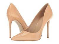 Massimo Matteo Pointy Toe Pump 17 Nude Patent Women's Shoes Beige