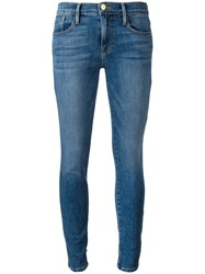 Frame Denim Straight Leg Jeans Blue