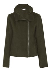 Vince Wool Blend Jacket Army Green