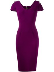 Roland Mouret Bleeker Dress Pink And Purple