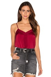 Atm Anthony Thomas Melillo Tuxedo Cami Red