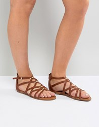 Madden Girl Arrchie Flat Sandal Tan