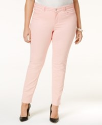 Charter Club Plus Size Bristol Tummy Control Ankle Jeans Only At Macy's Misty Pink