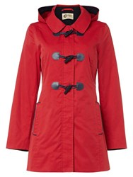 Covert Overt Cotton Hooded Toggle Jacket Red