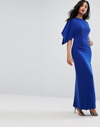 Aq Aq One Shoulder Structured Gown Blue