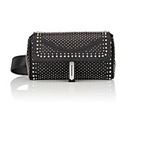 Fontana Milano 1915 Women's Studded Pochette Belt Bag Black Blue Black Blue