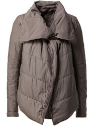 Rick Owens Drkshdw Oversized Collar Padded Jacket Grey