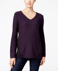 Styleandco. Style Co. Cable Knit V Neck Sweater Only At Macy's
