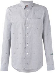 Paul Smith Ps By Watermelons Striped Shirt Black