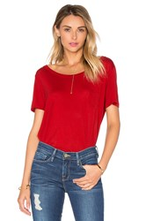 Frame Denim Le Boxy Tee Red